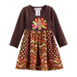 Toddler Girl Bonnie Jean Thanksgiving Turkey Dress