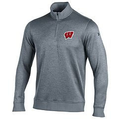 Men's Under Armour Wisconsin Badgers Storm Sweater Fleece Pullover