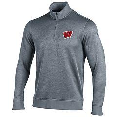 Men's Under Armour Wisconsin Badgers Storm Sweater Fleece Pullover