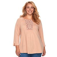 Plus Size SONOMA Goods for Life™ Embroidered Top