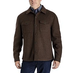 Men's Tower by London Fog Regular-Fit Wool-Blend Fleece Shirt
