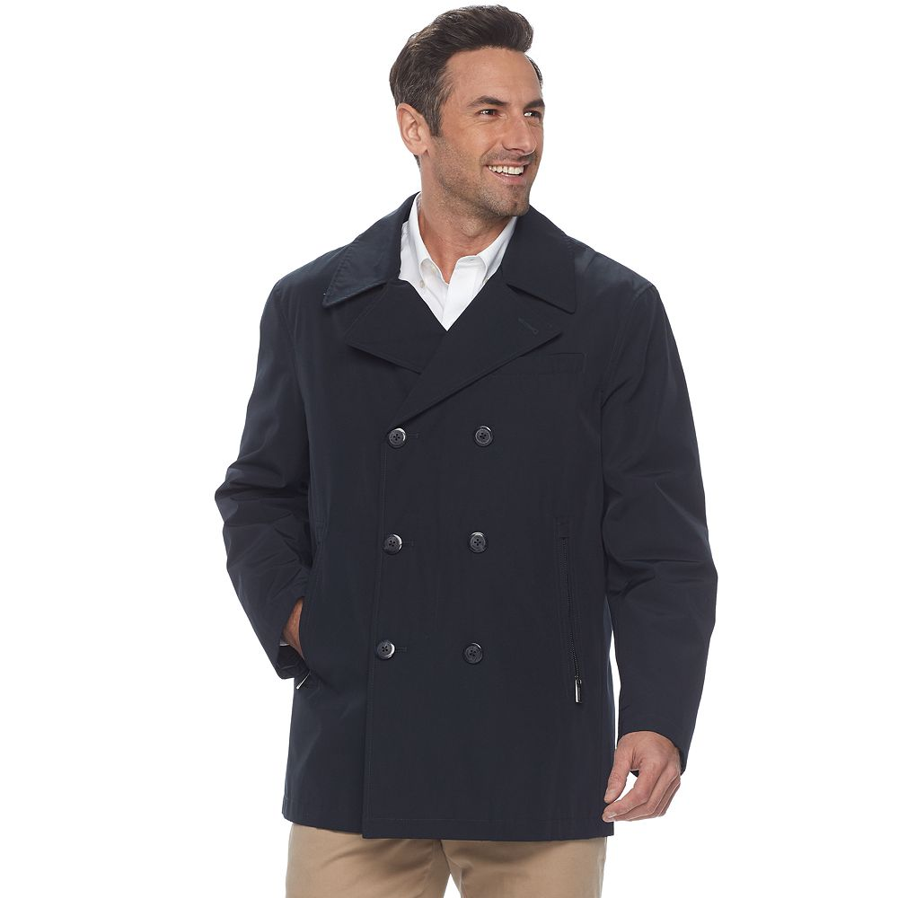 9d1a453b840b Men s Heritage by London Fog All-Weather Double-Breasted Peacoat