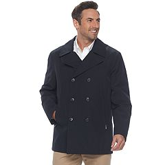Men's Heritage by London Fog All-Weather Double-Breasted Peacoat