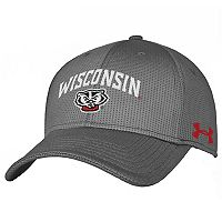 Adult Under Armour Wisconsin Badgers Stretch-Fit Cap