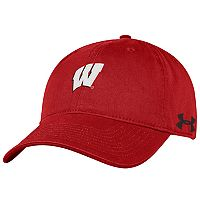 Adult Under Armour Wisconsin Badgers Adjustable Cap
