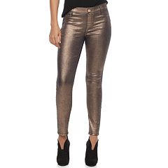 Women's Juicy Couture Coated Metallic Midrise Leggings