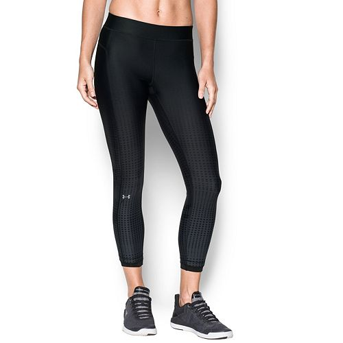 Women's Under Armour Heatgear Oversize Logo Ankle Leggings