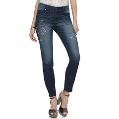 Women's Juicy Couture Embellished Snowflake Skinny Jean