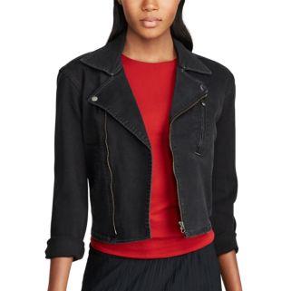 Women's Chaps Denim Moto Jacket