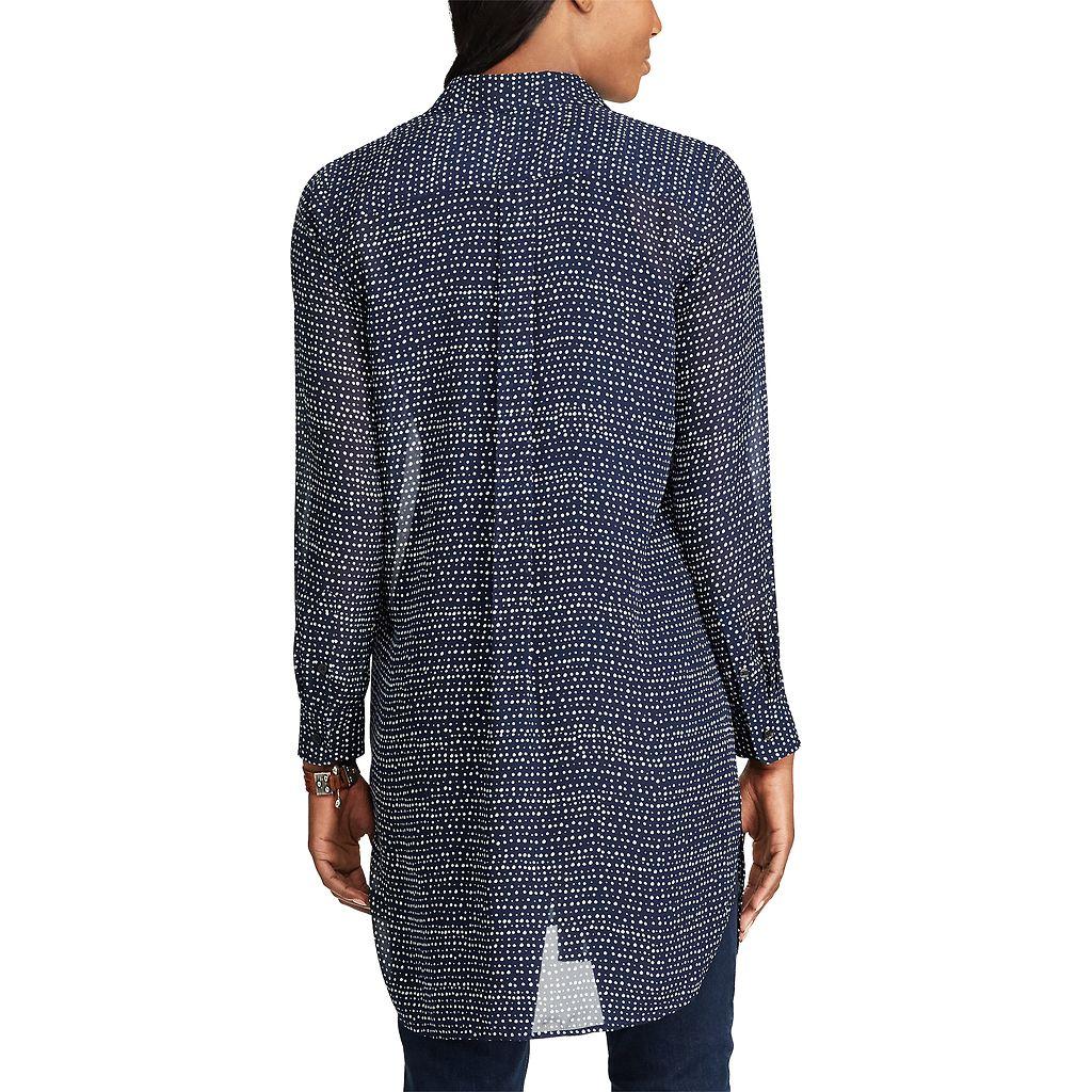 Women's Chaps Georgette Button-Down Tunic