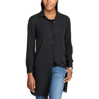 Women's Chaps Georgette Button-Down Tunic