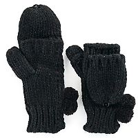 Women's SO® Firework Woven Flip-Top Mittens
