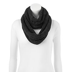 SO® Chenille Lurex Accent Infinity Scarf