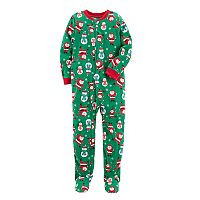Boys 8-20 Carter's Print Fleece Santa & Snowman Pajamas