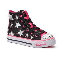 Skechers Twinkle Toes Shuffles Rockin' Stars Girls' Light Up Sneakers