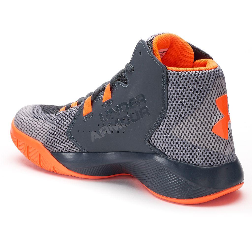 Under Armour Torch Fade Mid Grade School Boys' Basketball Shoes