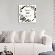 Artissimo Designs 'Home' Canvas Wall Art