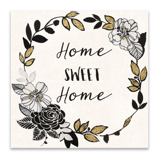 "Artissimo Designs ""Home"" Canvas Wall Art"