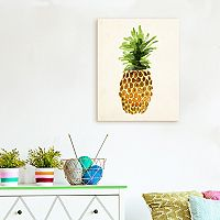 Artissimo Designs Pineapple Canvas Wall Art