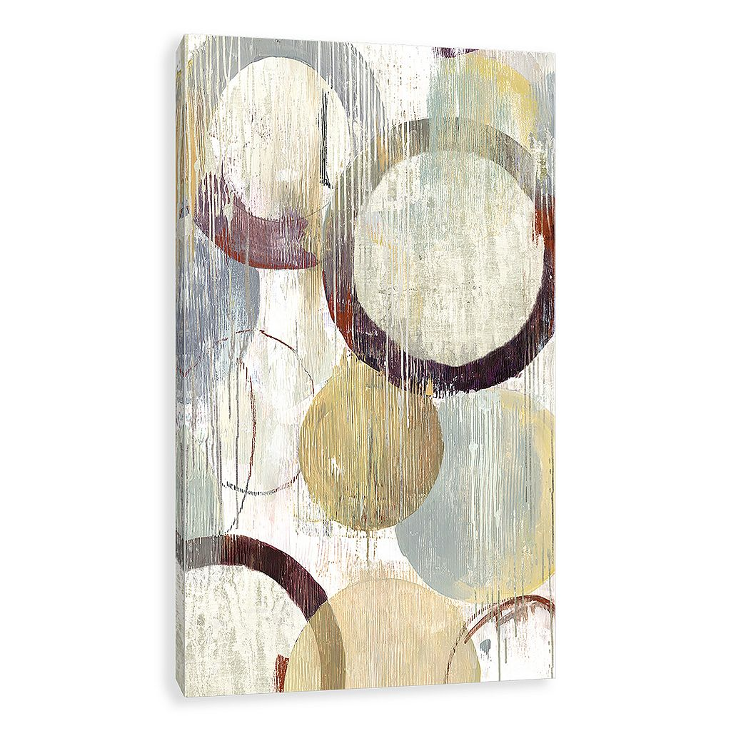 Artissimo Designs Distressed Rings Canvas Wall Art