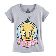 Girls 7-16 Looney Tunes Tweety Graphic Tee
