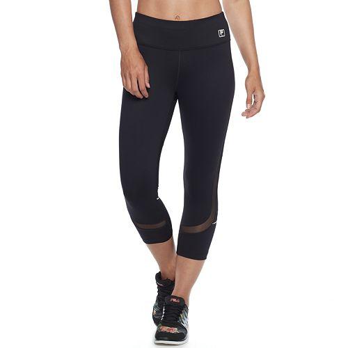 f45739660dd2c Women's FILA SPORT® Solid Mesh Inset Capri Leggings