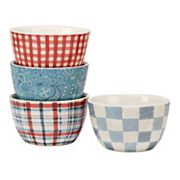 Certified International Farm House Rooster 4 pc Ice Cream Bowl Set