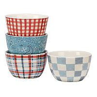 Certified International Farm House Rooster 4-pc. Ice Cream Bowl Set