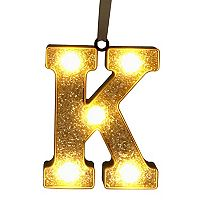 St. Nicholas Square® Glitter Light-Up Marquee Letter Christmas Ornament