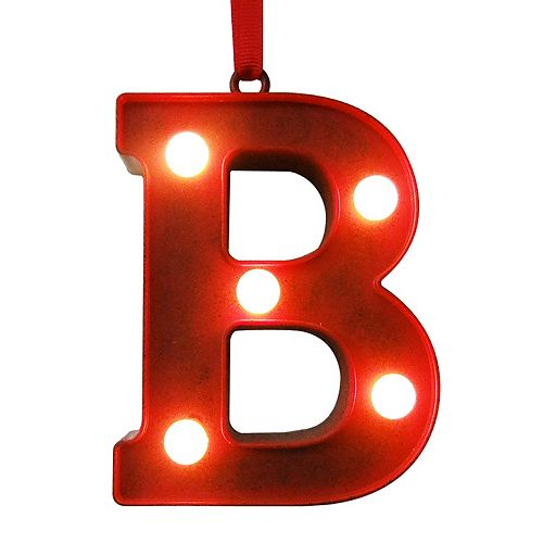St Nicholas Square Red Light Up Marquee Letter Christmas