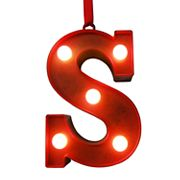 St. Nicholas Square® Red Light-Up Marquee Letter Christmas Ornament