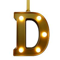 St. Nicholas Square® Light-Up Marquee Letter Christmas Ornament