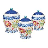 Certified International San Marino 3 pc Canister Set