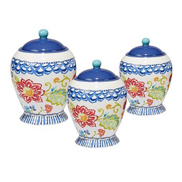 Certified International San Marino 3-pc. Canister Set