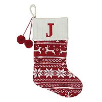 St. Nicholas Square® 21-in. Fairisle Monogram Christmas Stocking