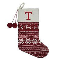 St. Nicholas Square® 21-in. Fairisle Monogram Christmas Stocking