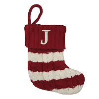 St. Nicholas Square® 8-in. Striped Monogram Christmas Stocking