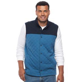 Big & Tall Croft & Barrow® Outdoor Quilted Fleece Vest