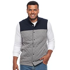 Big & Tall Croft & Barrow® Outdoor Quilted Fleece Vest