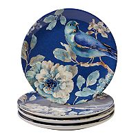 Certified International Indigold Bird 4 pc Salad Plate Set