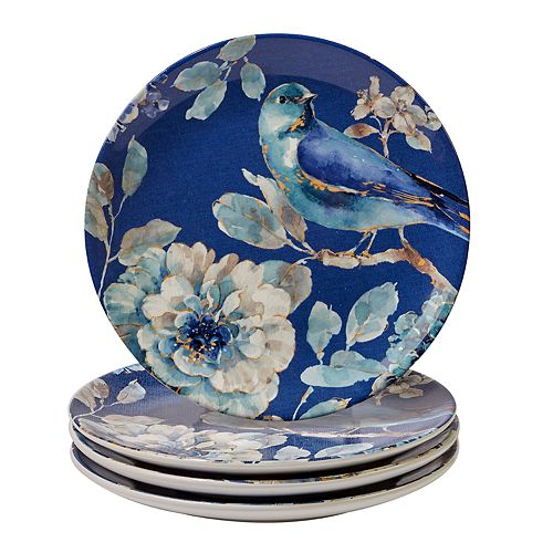 Certified International Indigold Bird 4-pc. Salad Plate Set