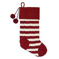 St. Nicholas Square® 21-in. Striped Monogram Christmas Stocking