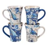 Certified International Indigold Bird 4-pc. Mug Set