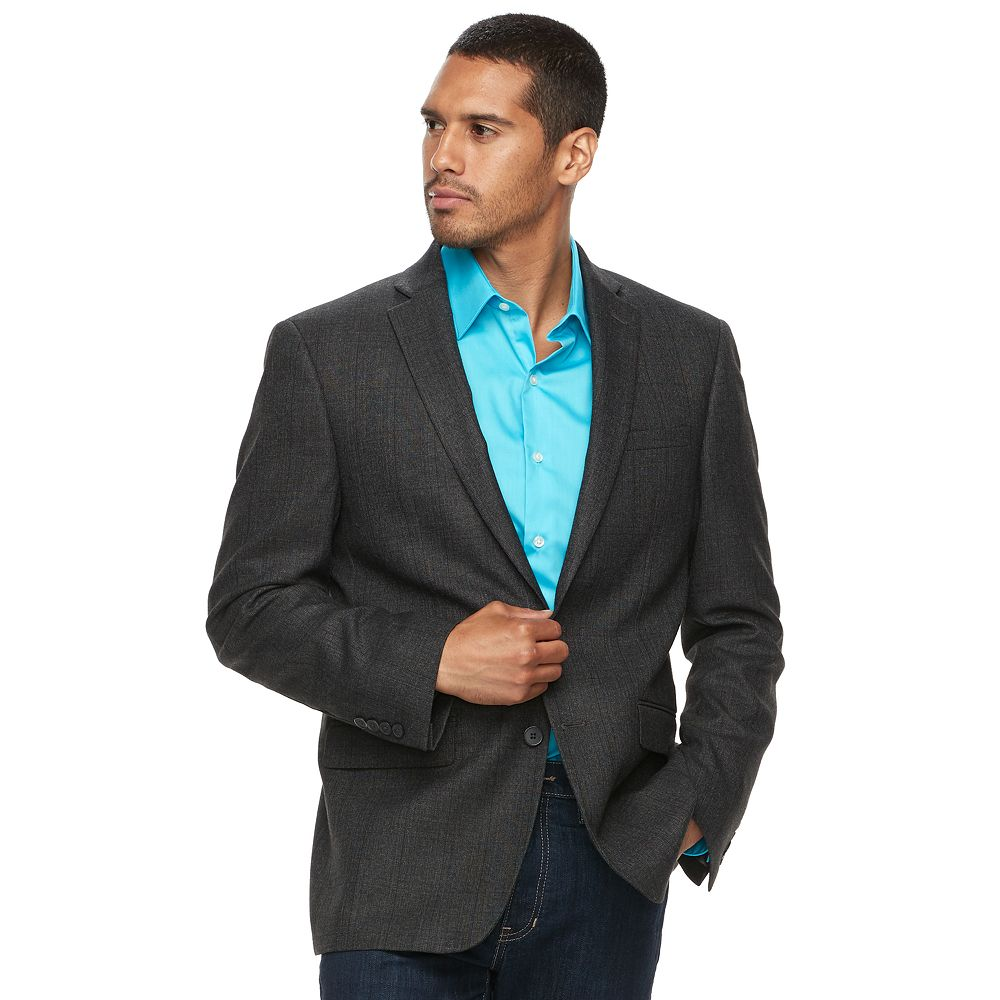 Van Heusen Slim-Fit Checked Flex Stretch Sport Coat