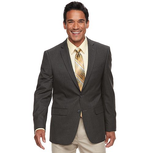 Men's Van Heusen Slim-Fit Checked Flex Stretch Sport Coat