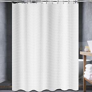 Home ClassicsR Waffle Retreat Fabric Shower Curtain