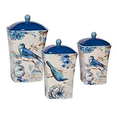 Certified International Indigold Bird 3-pc. Canister Set