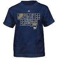 Boys 8-20 Majestic Milwaukee Brewers Spark Tee