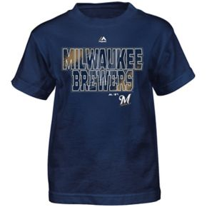 Boys 8-20 Majestic Milwaukee Brewers Spark Tee
