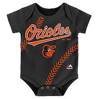 Baby Majestic Baltimore Orioles Fanatic Bodysuit